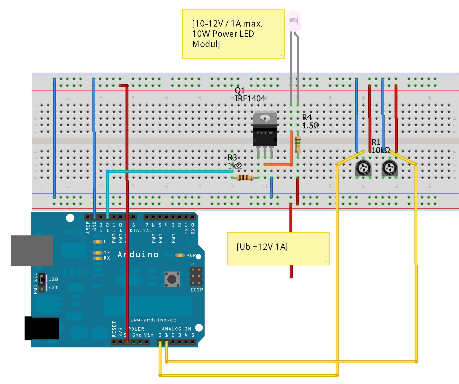 Mein Paket Ein10w Power Led Modul Arduino Hannover Arduinoledlightchaser10ledcodecircuit Stckliste Ardu Stroboskop Steckplatine