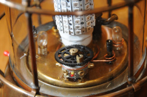 Detail von Olafs Steampunk-Lampe
