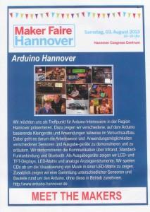 Standbeschreibung Maker Faire Hannover 2013