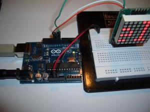 Testaufbau_MAX7219_Dot_Matrix_Modul